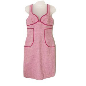 David Meister Sheath Dress Pink Size 6 Cotton